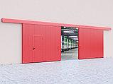 Откатные противопожарные ворота с классом огнестойкости EI60, EI90, фото 2