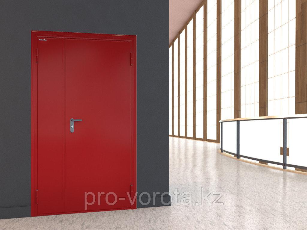 Противопожарные двухстворчатые двери