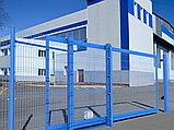 Откатные ворота со стальной рамой и  с заполнением сварной сеткой, фото 2