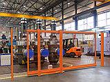 Откатные ворота со стальной рамой и  с заполнением сварной сеткой, фото 3