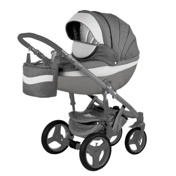 Детская коляска Adamex 3 в 1 Monte каучуковые колеса D3
