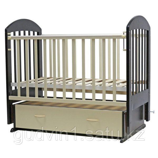 Детская кроватка Топотушки Дарина-6 венге-слоновая кость 00-75518