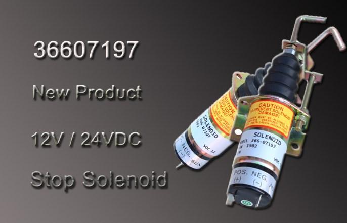 12 V/24 V дизельный двигатель управляющий клапан для прекращения подачи топлива клапан 366-07197