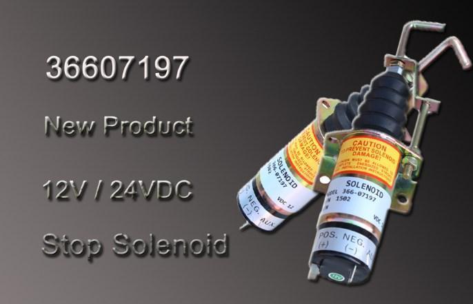 12 V/24 V дизельный двигатель управляющий клапан для прекращения подачи топлива клапан 366-07197, фото 2