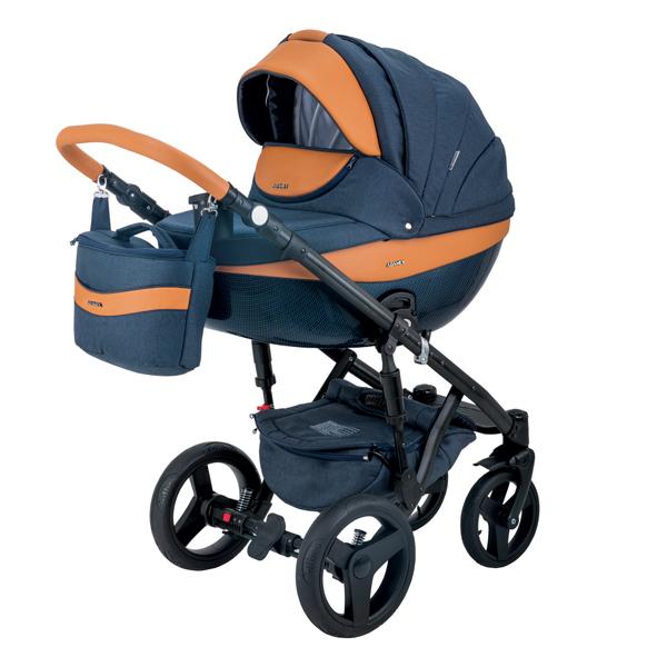 Детская коляска Adamex 3 в 1 Monte каучуковые колеса D4