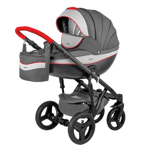 Детская коляска Adamex 3 в 1 Monte каучуковые колеса D5