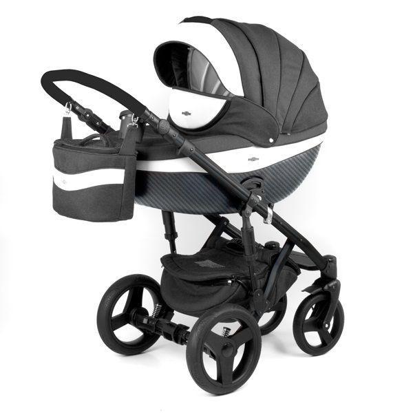 Детская коляска Adamex 3 в 1 Monte каучуковые колеса D6
