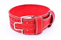 Пояс кожаный для пауэрлифтинга 100 мм, скоба, трехслойный L (80-100 см)