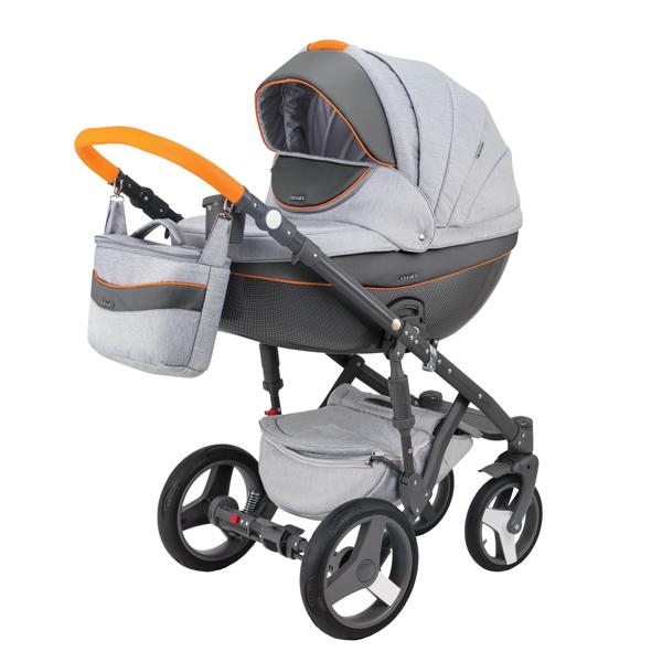 Детская коляска Adamex 3 в 1 Monte каучуковые колеса D9