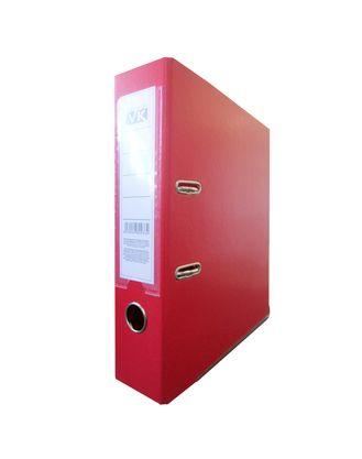 Папка-регистратор Hatber VK, А4, корешок 80 мм., с арочным механизмом, ПВХ покрытие, красная