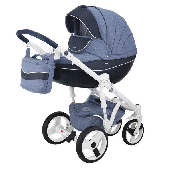 Детская коляска Adamex 3 в 1 Monte каучуковые колеса D22