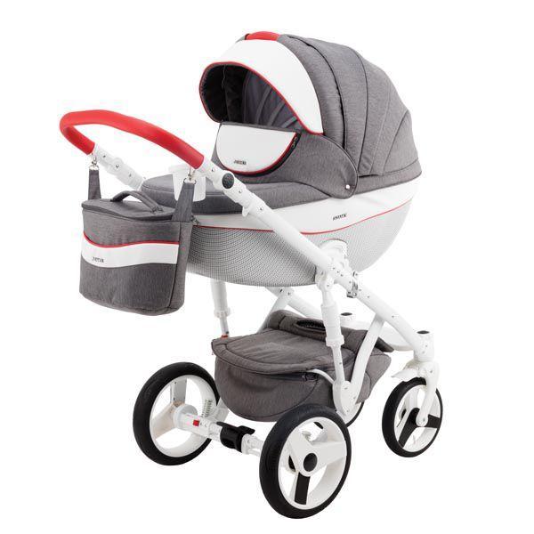 Детская коляска Adamex 3 в 1 Monte каучуковые колеса D31