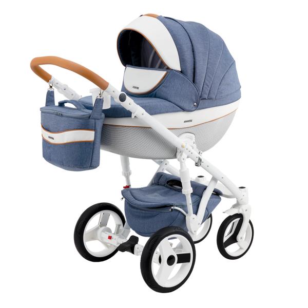 Детская коляска Adamex 3 в 1 Monte каучуковые колеса D33