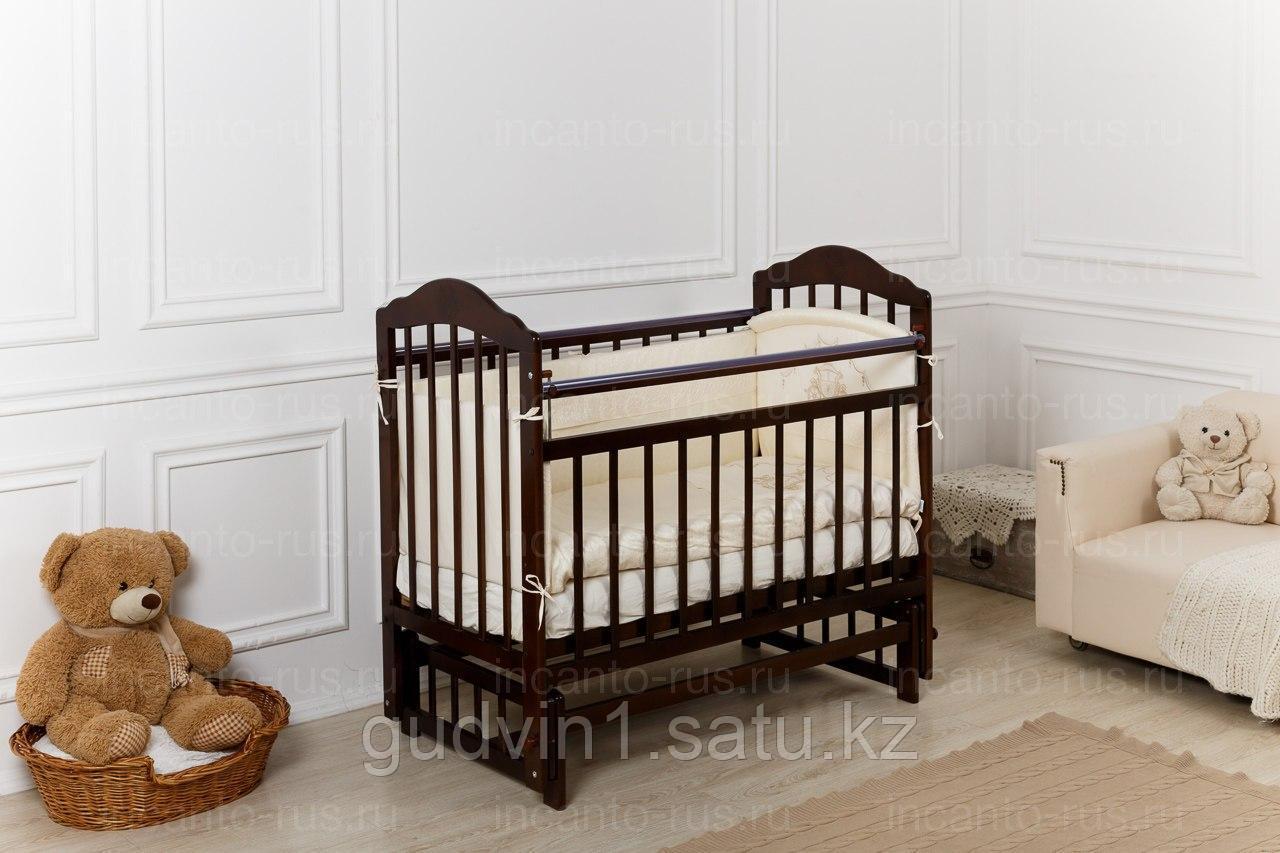 Кровать «Incanto Pali» венге с мишкой, продольный маятник, 00-88588