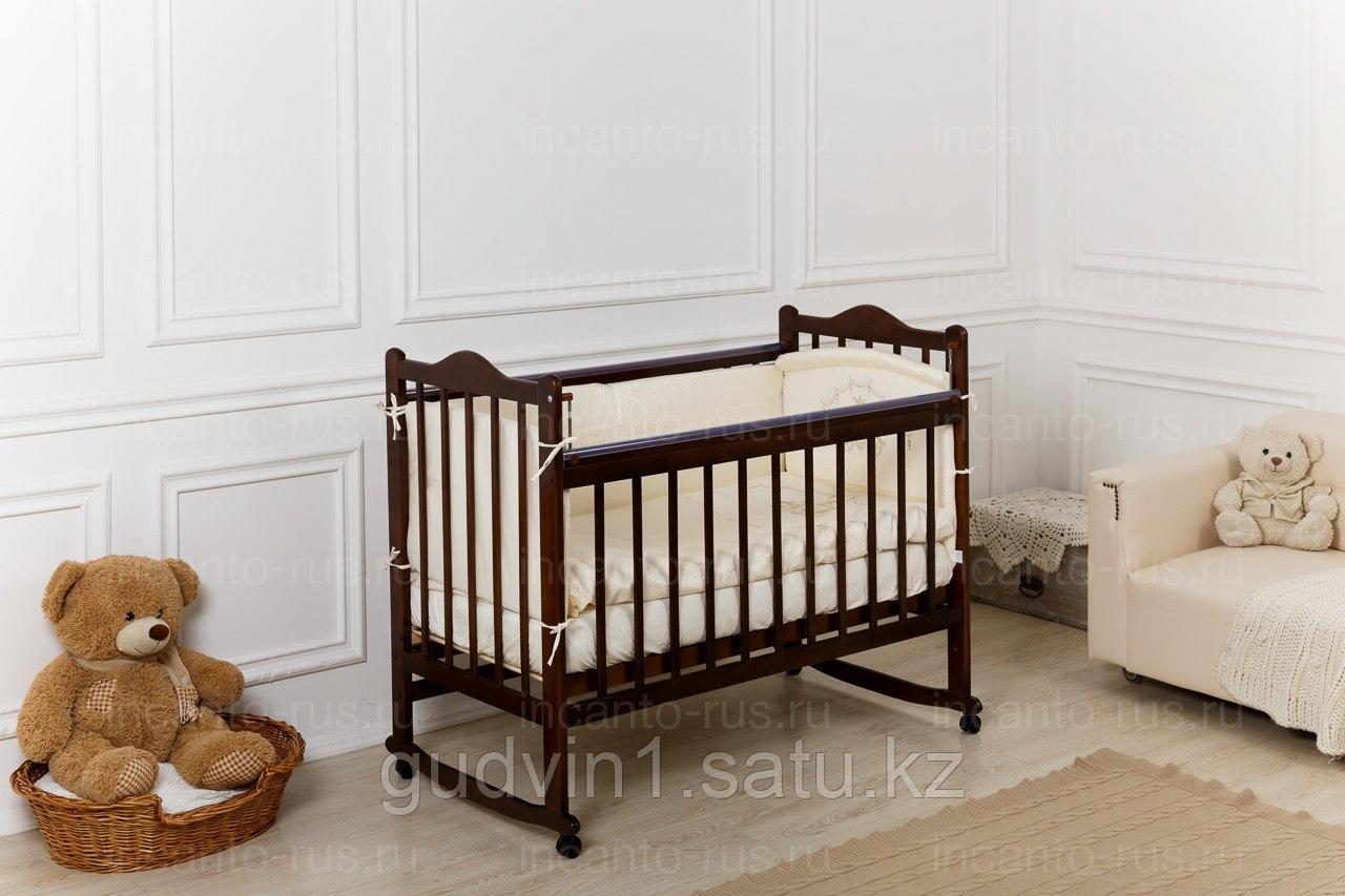 Кровать «Incanto Pali» с мишкой, цвет венге, колесо-качалка 00-88594