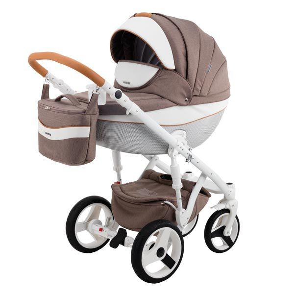 Детская коляска Adamex 3 в 1 Monte каучуковые колеса D34