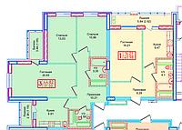 3 комнатная квартира в ЖК  Томирис  71 м², фото 1