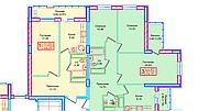 3 комнатная квартира в ЖК Томирис  74.91 м², фото 1
