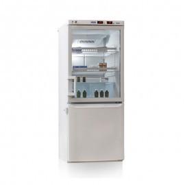 Холодильник лабораторный ХЛ-250 серебристый тонир. Стекло