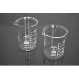 Стаканы лабораторные с делениями низкие Н-1-50 ТС