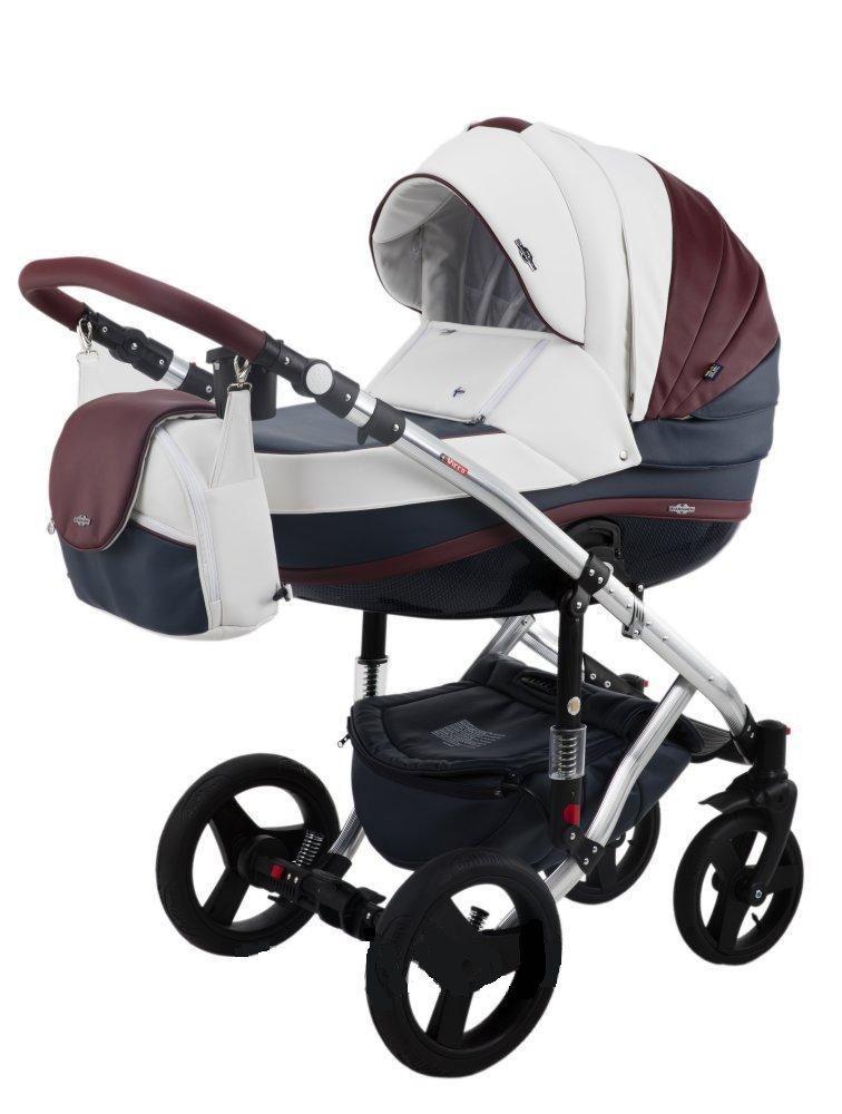 Детская коляска Adamex 3 в 1 Vicco Deluxe каучуковые колеса 100s