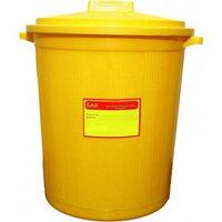 Бак пластиковый с крышкой для сбора мед.отходов 20л (желтый)