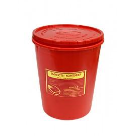 Емкость-контейнер для сбора органических отходов 3,0 л (красный)