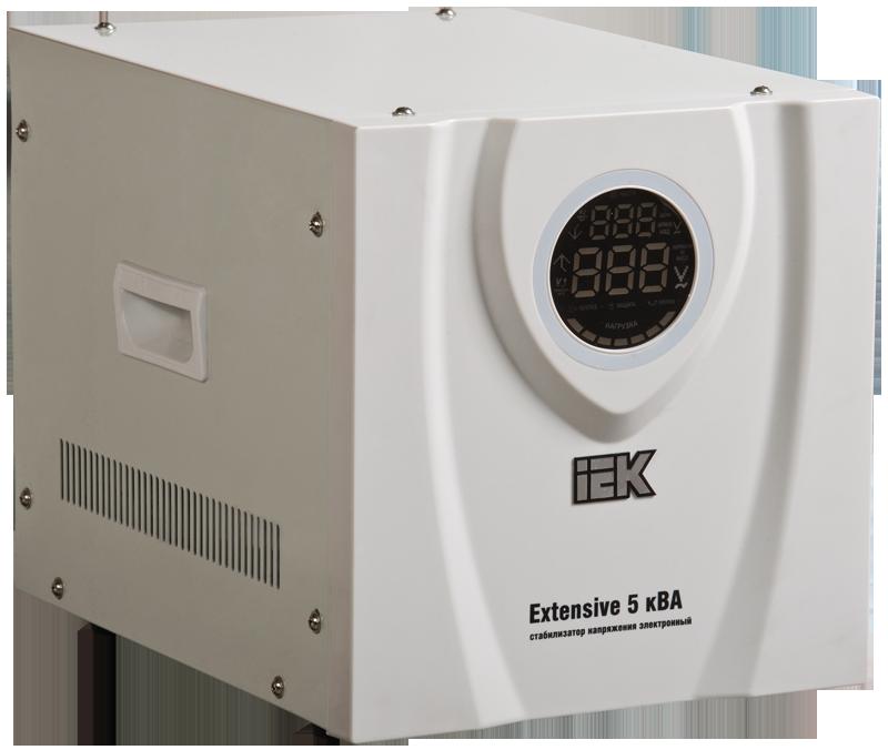 Стабилизатор напряжения переносной Extensive 5кВА IEK