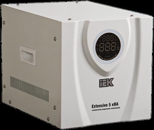 Стабилизатор напряжения переносной Extensive 5кВА IEK, фото 2