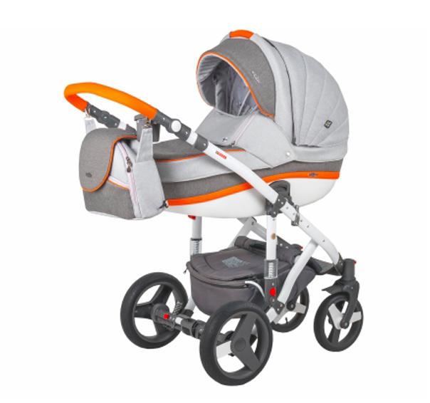 Детская коляска Adamex 3 в 1 Vicco каучуковые колеса R5