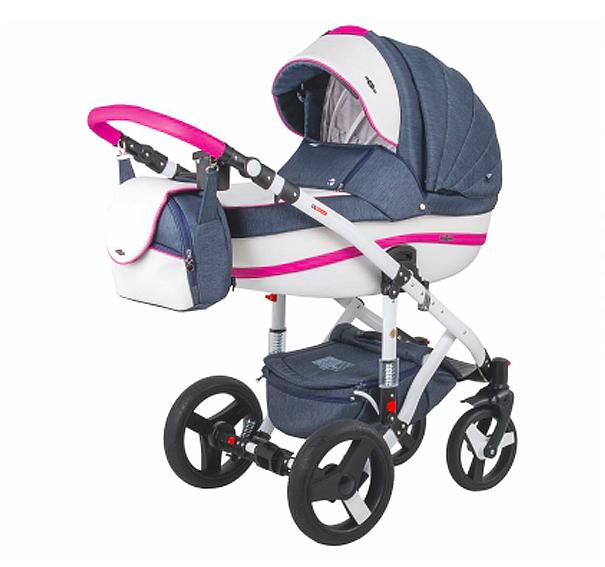 Детская коляска Adamex 3 в 1 Vicco каучуковые колеса R8