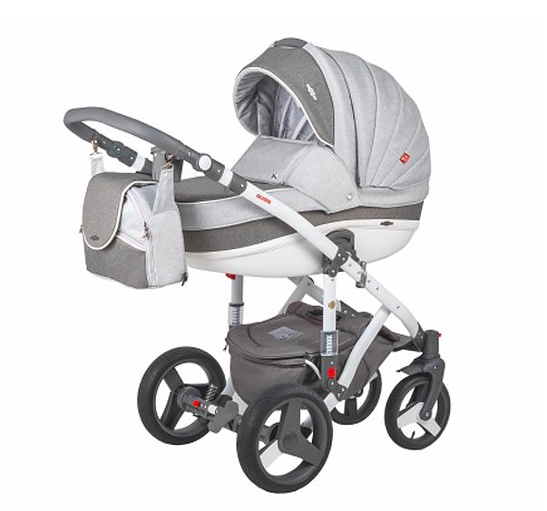 Детская коляска Adamex 3 в 1 Vicco каучуковые колеса R10