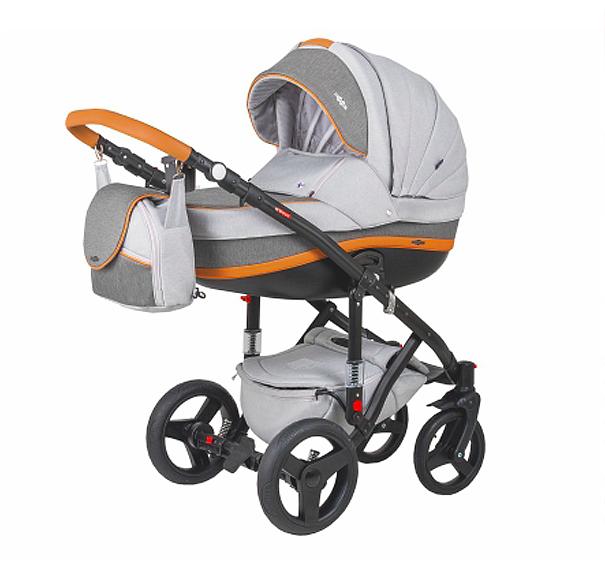 Детская коляска Adamex 3 в 1 Vicco каучуковые колеса R12