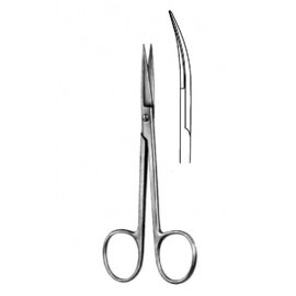 Ножницы глазные для снятия швов изогнутые,110 мм