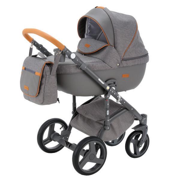 Детская коляска Adamex 3 в 1 Massimo каучуковые колеса v2
