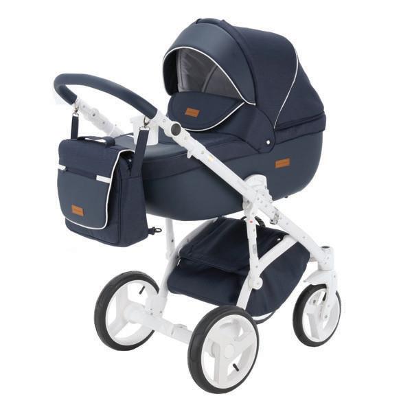 Детская коляска Adamex 3 в 1 Massimo каучуковые колеса v4