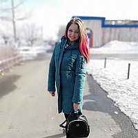 Куртка женская зимняя цвет бирюза
