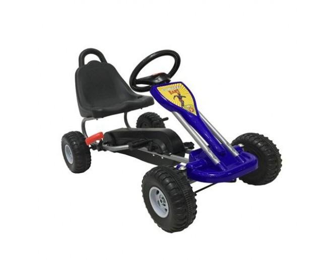 Автомобиль Bugati с педалями (красный\синий)Резиновые колеса