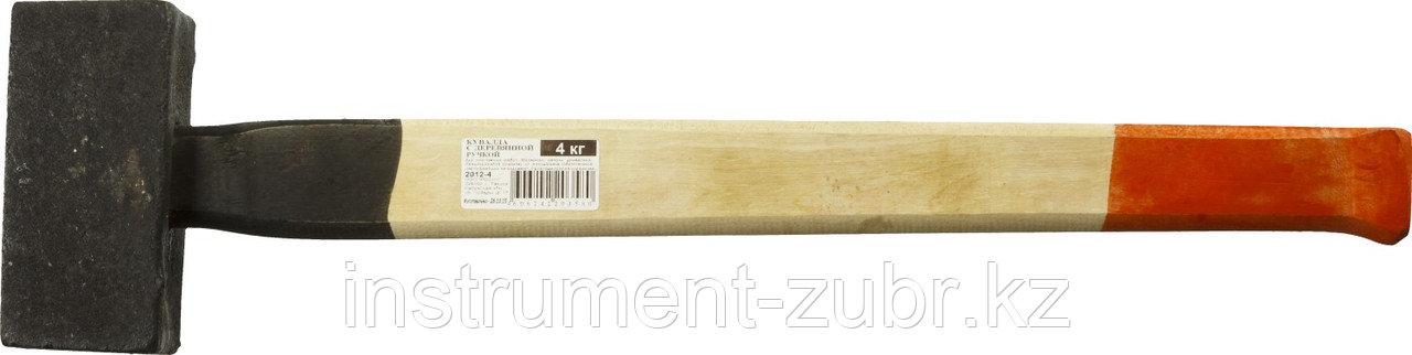 Кувалда литая с деревянной рукояткой 4кг