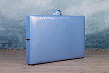 КУШЕТКА складная косметологическая. 180/60 голубой-перламутр, фото 2