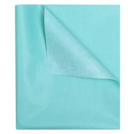 Клеенка подкладная с ПВХ покрытием 1,4 м х 25 м - цвет: голубой