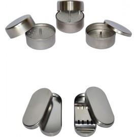 Лоток стоматологический с крышкой, специальный ЛСКБ-«Медикон», d 76х35мм с укладкой для боров