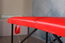 КУШЕТКА складная косметологическая. 180/60 красный, фото 2