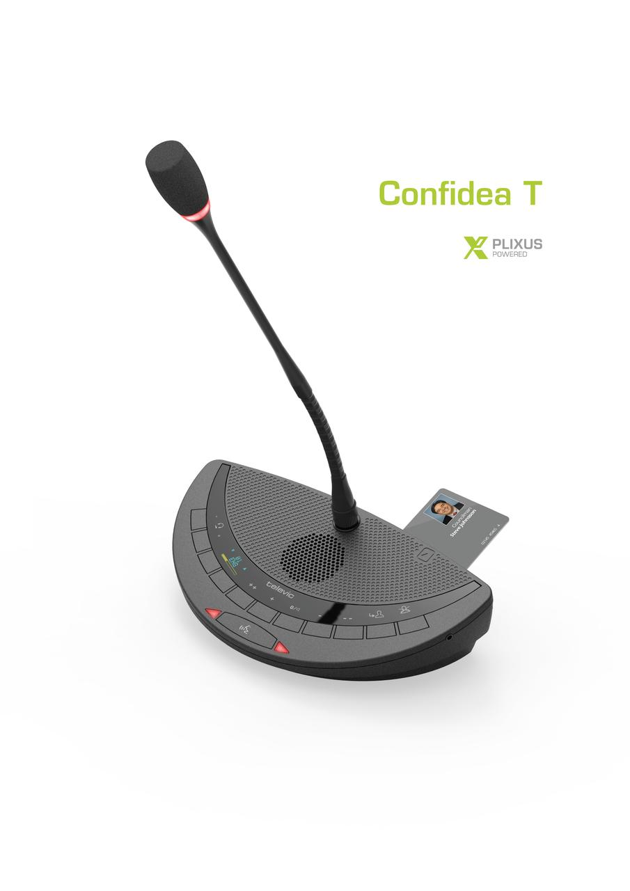 Televic Confidea T проводной настольный микрофонный пульт