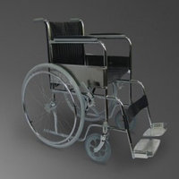 Коляска для инвалидов модель FS609-46GCU со стульч. и рег.спинкой, шир.сидения46см,со съемн.подлок