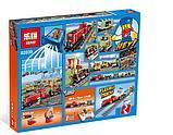 Конструктор Lepin 02039 Красный груз поезд аналог лего Lego City 3677, фото 5