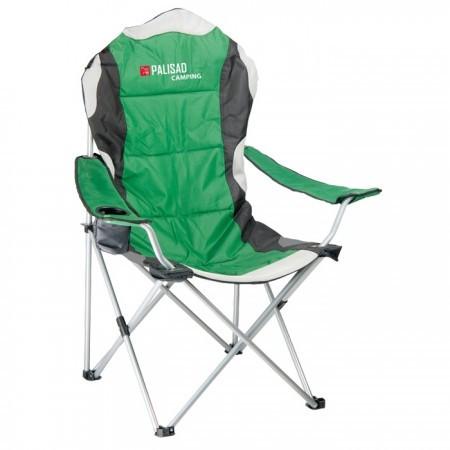 Кресло складное с подлокотниками и подстаканником 60 х 60 х 110/92 см Camping Palisad