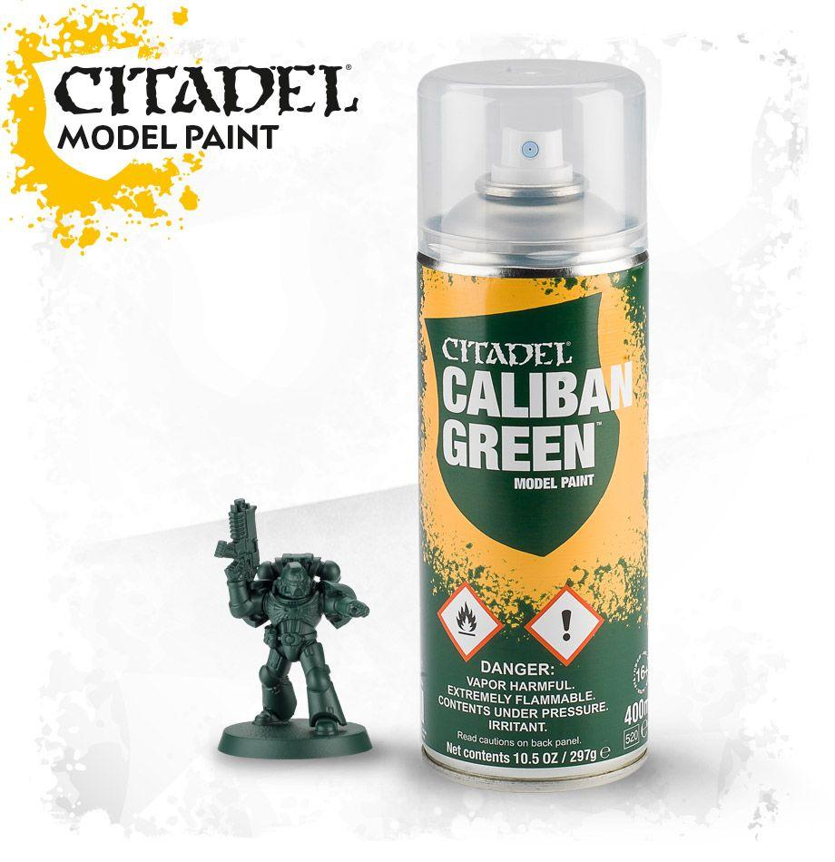 АКСЕССУАРЫ ВАРХАММЕР: Спрей-грунтовка Зеленый Калибан (Caliban Green Spray) - фото 1