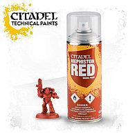 АКСЕССУАРЫ ВАРХАММЕР: Спрей-грунтовка Красный Мефистон (Mephiston Red Spray)