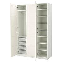 Гардероб ПАКС Бергсбу белый 150x60x236 см ИКЕА, IKEA, фото 1